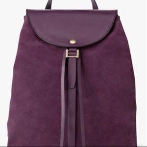 Kate Spade Saturday Purple Suede backpack